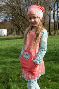 "Tunika/Longshirt ""Apricot Stripes"""