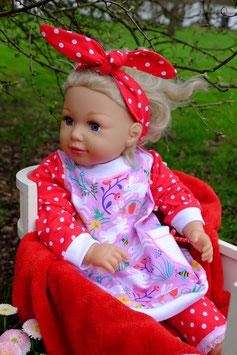 """Hoodie/Pulloverkleid """"Rabbit Red"""" - auch in kleiner Größe"""