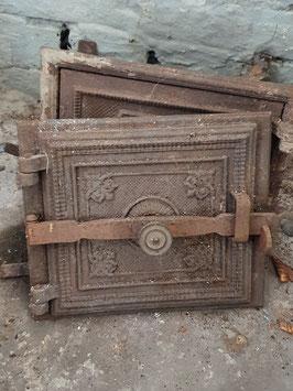 alte Ofentür Ofenklappe gusseisen Nr 1203-12