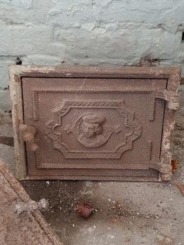 alte Ofentür Ofenklappe gusseisen Nr 1203-10