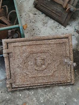 alte Ofentür Ofenklappe gusseisen Nr 1203-11