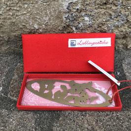 Räder Lesezeichen in edler Geschenkverpackung aus rotem Stoff