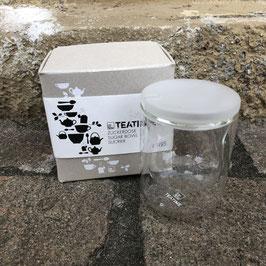 Milchkännchen oder Zuckerdose aus Glas von Räder