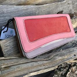 Soruka Geldbörse - rot, pink, grau