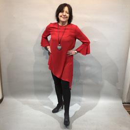 Rote asymmetrische Bluse von Entree Berlin