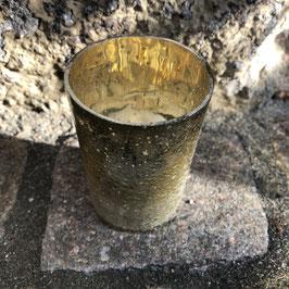Teelichthalter grün/gold