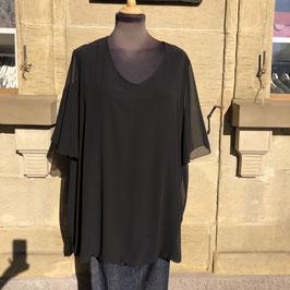 Schwarzes Kurzarm-T-Shirt KJ BRAND