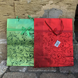 Weihnachtstüte mit Ornamenten in 2 Farben