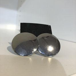 Clip silber rund glänzend