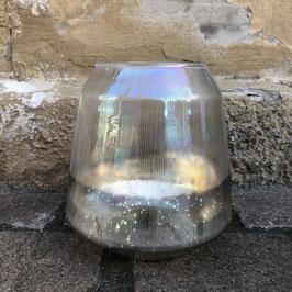 Deko-Windlicht silber/Glas