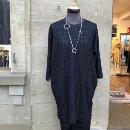Masai Kleid grau/schwarz im Oversize Look