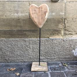 Holz-Herz am Stiel
