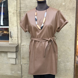 Braunes Kunstleder-Kleid