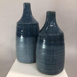 Blaue Vase in 2 Größen