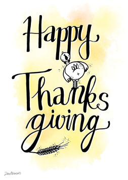 "Postkarte ""Happy Thanksgiving"""""