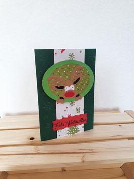 Weihnachtselch grün