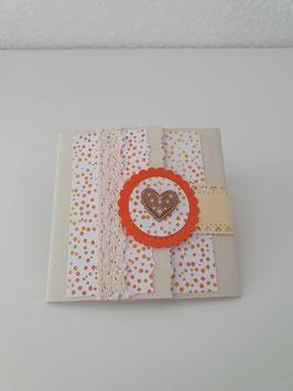Faltkarte creme/orange