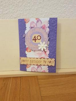 Happy Birthday to you 40