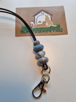 Pfeifenband hellblau/grau/lava