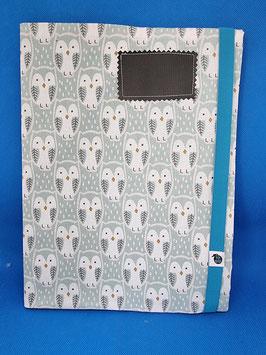 Couverture de cahier chouettes