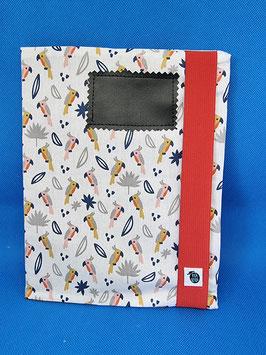 Couverture de cahier perroquets