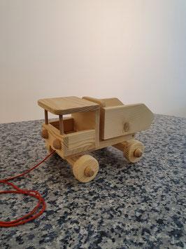 Kleiner Holz-LKW zum Ziehen