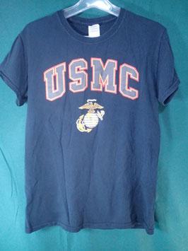 売切れ USMCマーク入りプリントTシャツ S