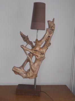 lamp met bruine kap