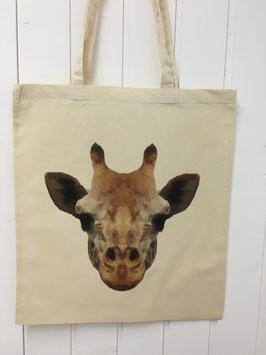 Stofftasche Poly Giraffe