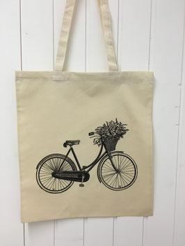 Stofftasche Flowerbike