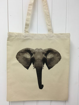 Stofftasche Poly Elefant