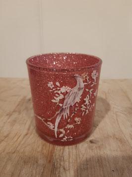 Teelichtglas mit Paradiesvogel Nr.69