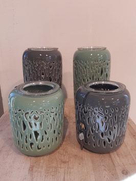Teelichter in mint und grau Nr.31