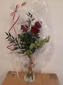 """Blumenstrauß """"3St. rote Rosen"""""""