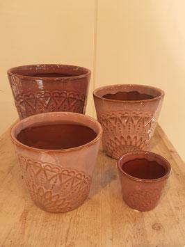 Keramik in rosa und beere Nr. 1