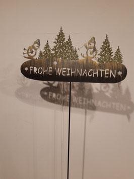 """Metallstecker """"Frohe Weihnachten"""" Nr.96"""