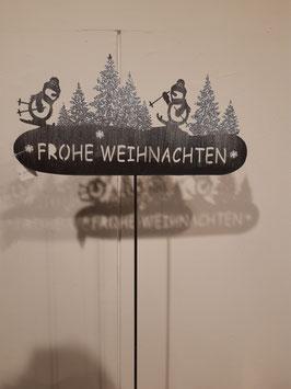 """Metallstecker """"Frohe Weihnachten"""" Nr.95"""
