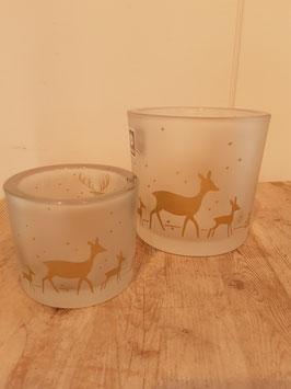 Glas mit Hirsch Nr.18