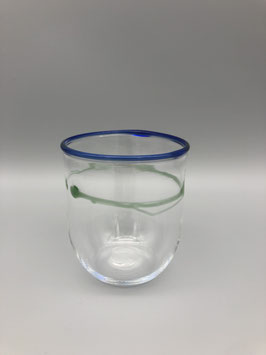 drinking glass in blue/green