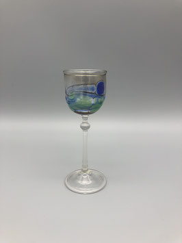 Mini glass in blue/green