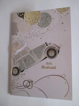 Hochzeitskarte, Hochzeit ,Auto