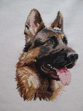 Stickbild Schäferhund