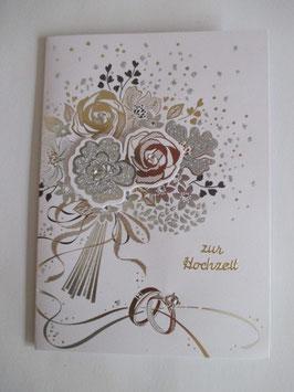 Hochzeitskarte, Hochzeit ,Blumen