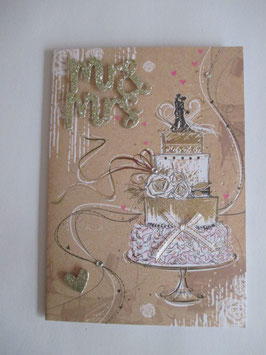 Hochzeitskarte, Hochzeit ,Torte