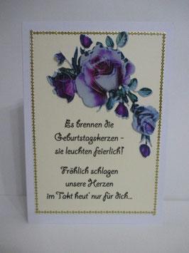 Grußkarte zum Geburtstag, Geburtstagskarte mit Spruch 5
