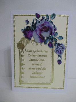 Grußkarte zum Geburtstag, Geburtstagskarte mit Spruch 6
