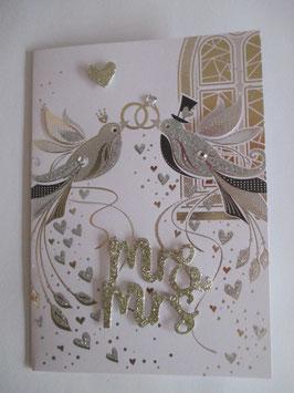 Hochzeitskarte, Hochzeit ,Vögel