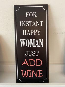 Blech-Schild Wine