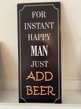 Blech-Schild Beer