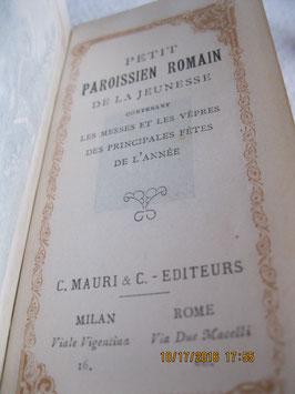 PETIT PAROISSIEN ROMAIN DE LA JEUNESSE